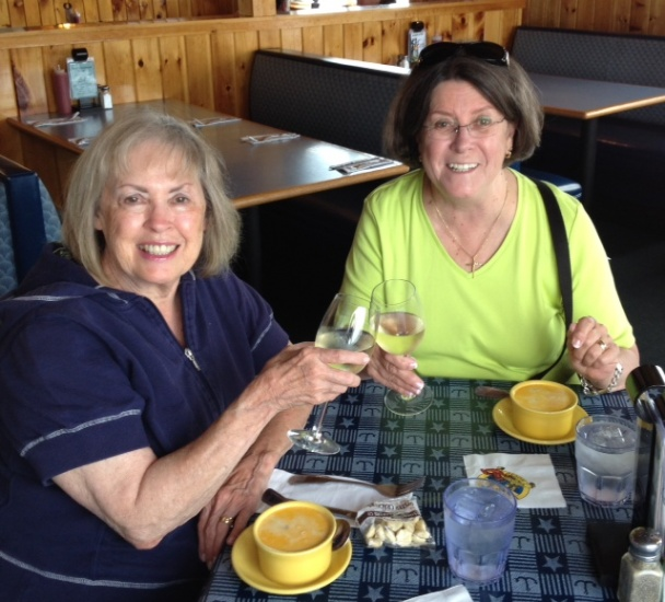 At Billy's Chowder House, Wells Beach, Maine 2014